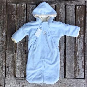 NWT 6m Ralph Lauren Layette Blue Warm Baby Bunting